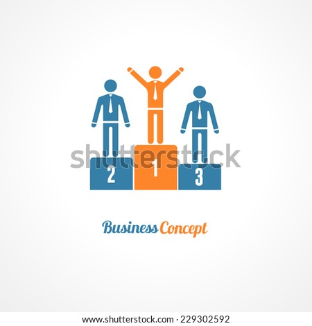 Winners Podium Symbol Vector Illustration. Business concept. - stock vector