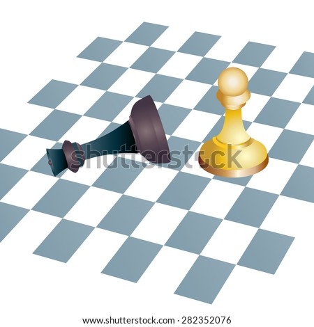 Winning Chess concept - stock vector