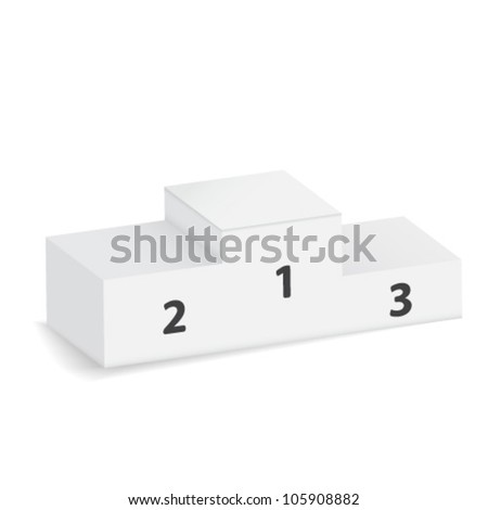 winning podium - stock vector