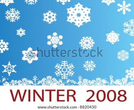 winter - stock vector