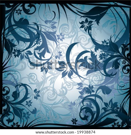 winter abstract background - stock vector