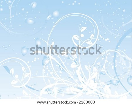 Winter abstract - vector