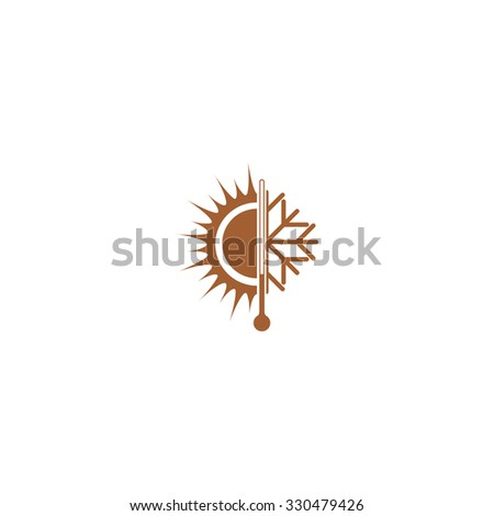 Winter and summer icon. - stock vector