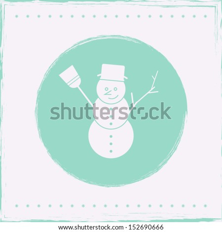 Winter Background/Snowman