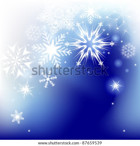 Winter background. Vector illustration - stock vector