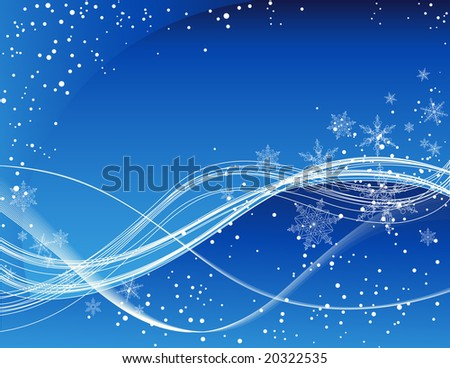 Winter background, vector illustration, EPS files included