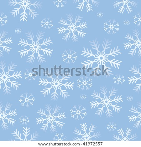Winter background. Vector Illustration with lot of snowflake. - stock vector