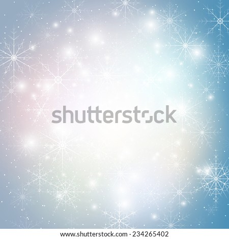 Winter background with snowflakes. Abstract winter design and website template, abstract pattern vector. - stock vector