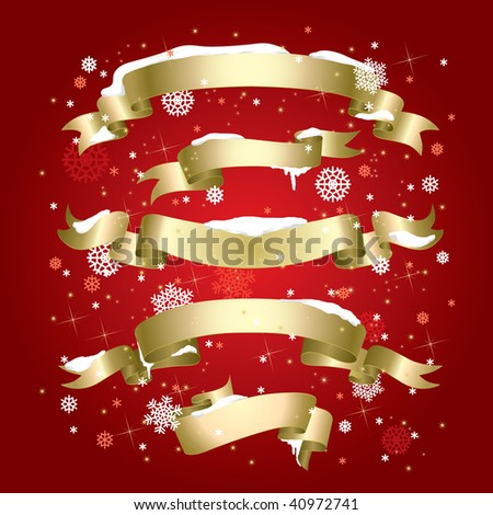 Winter Banners (vector). In the gallery also available XXL jpeg version of this image. - stock vector