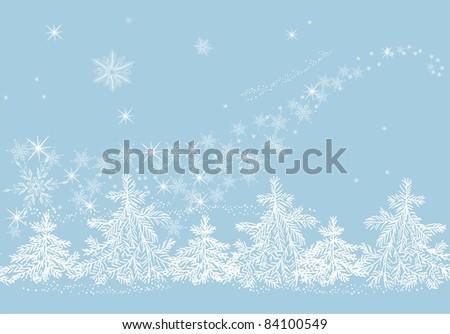 Winter blizzard - stock vector