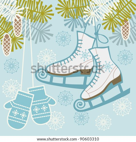 Image result for old fashioned ice skates clipart