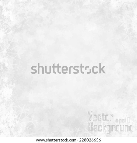 winter bokeh background with snowflakes - stock vector