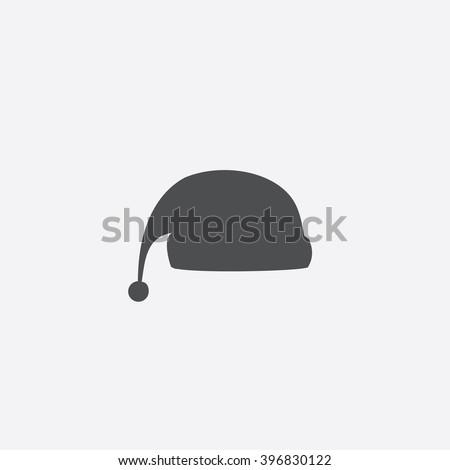 Winter cap Icon Vector.  - stock vector