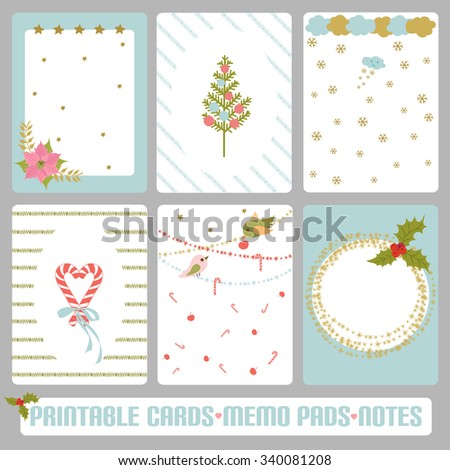 winter cards notes labels tags vector stock vector royalty free