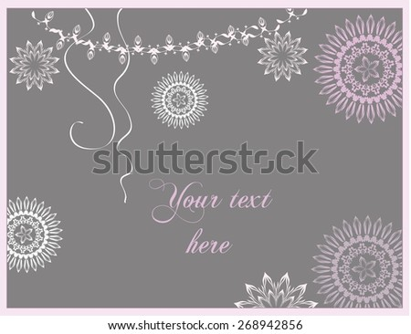 Winter Christmas and New Year celebration card. - stock vector