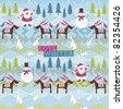 Winter Christmas background - stock vector