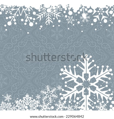 Winter Christmas background. Snowflake wallpaper