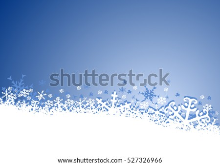 Winter christmas new year greeting card