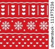 Winter Christmas seamless vector pattern - stock vector
