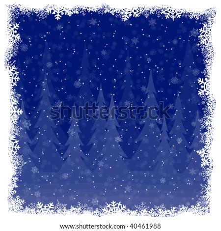 Winter decoration - stock vector