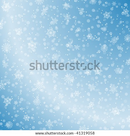 Winter decoration background - stock vector