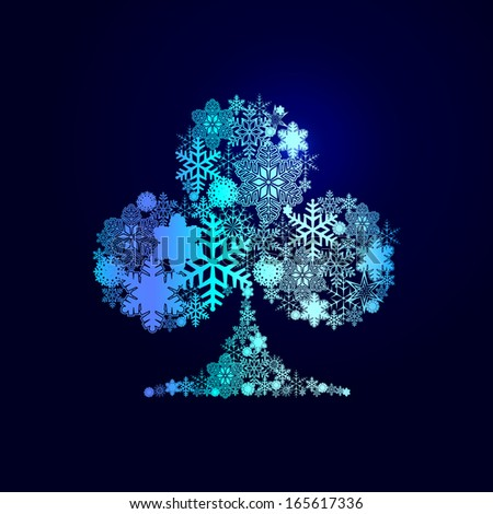 Winter decorations. Symbols of snowflakes - stock vector