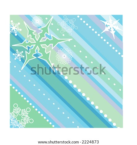 winter design background funky colors - stock vector