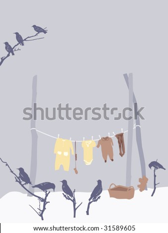 winter festivity scene - stock vector