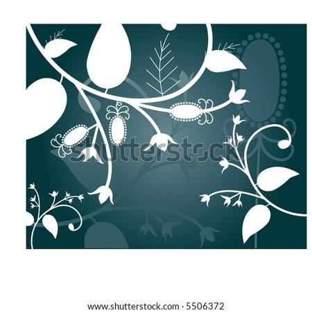 winter foliage vector - stock vector