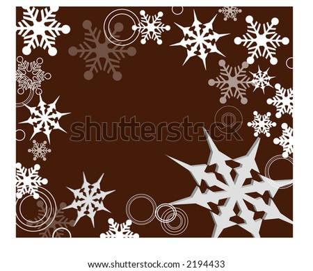 winter frame - stock vector