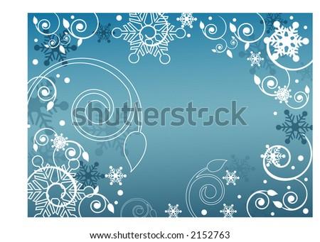 winter frame series - stock vector