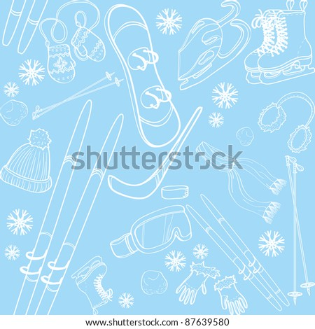 Winter fun seamless pattern