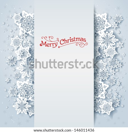 Winter holiday background with space for text - stock vector
