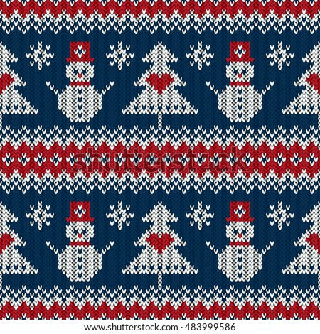 Knit Pattern Christmas Vector : Knitted Snowman Stock Images, Royalty-Free Images & Vectors Shutterstock