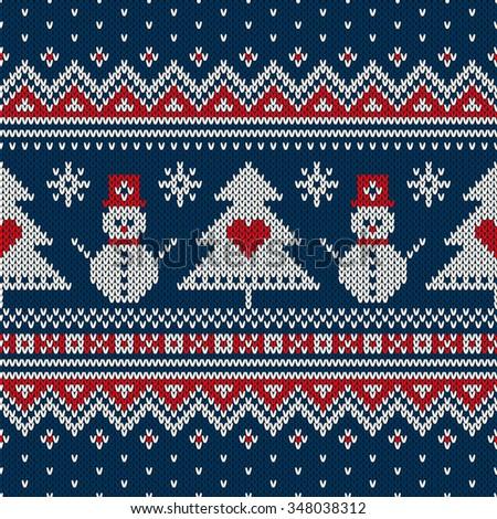 Knit Pattern Christmas Vector : Atelier_Agondas Portfolio on Shutterstock
