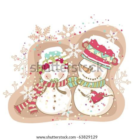 winter love - stock vector