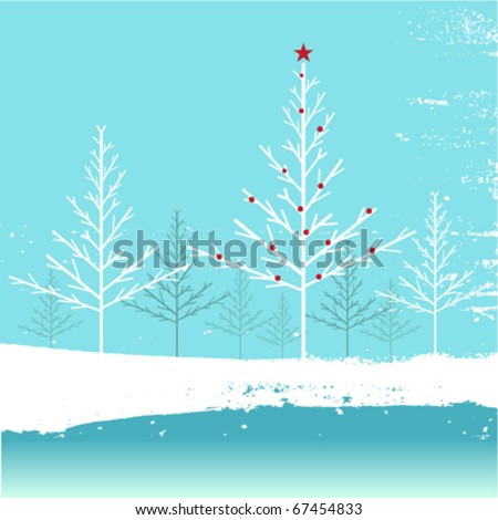 winter nature background - stock vector