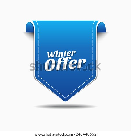 Winter Offer Blue Vector Icon Design