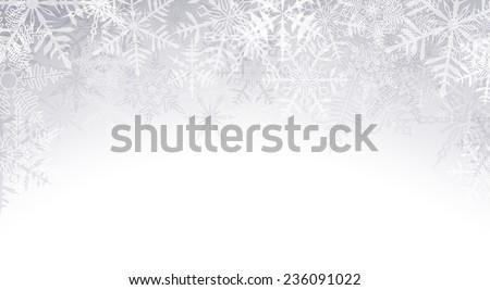 Winter pattern with crystallic snowflakes. Christmas background. Vector.   - stock vector