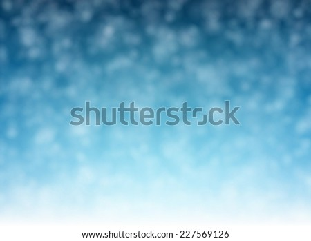 Winter pattern with defocused snowflakes. Christmas background. Vector.  - stock vector