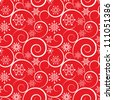 Winter red christmas seamless background - stock vector