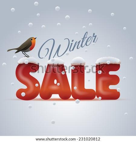 Winter sale, eps10 vector - stock vector