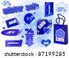 Winter sale set vector illustration. - stock vector