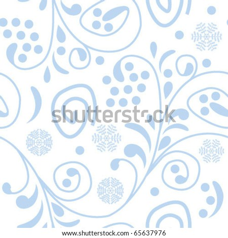 Winter seamless - stock vector