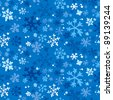 Winter seamless background, vector illustration. - stock photo