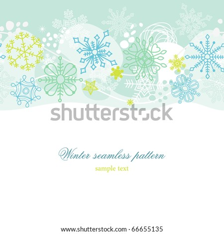 Winter seamless pattern - stock vector