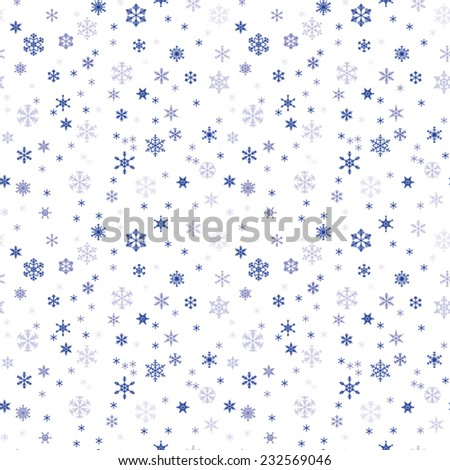 Winter seamless texture with snowflakes - stock vector
