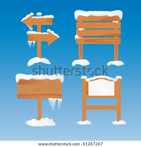 Winter sign - stock vector