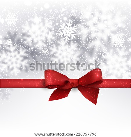 Winter silver background. Fallen defocused snowflakes. Christmas. Vector.  - stock vector