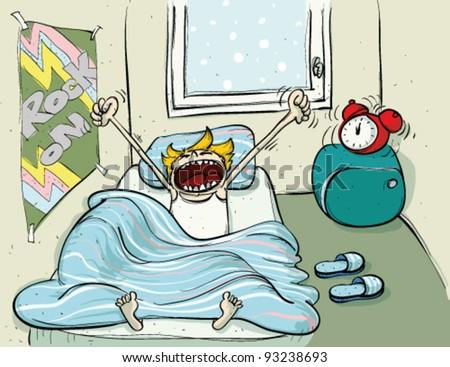 Winter Sleep - stock vector